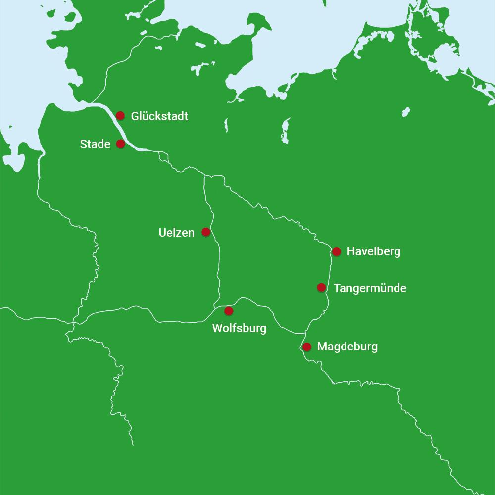 Karte Rundtour Wolfsburg