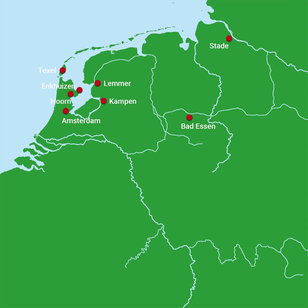Karte Amsterdam - Stade